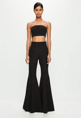 Missguided Black Flared Trousers