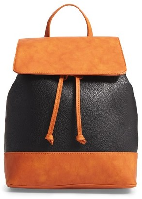 Sole Society Kaili Two Tone Backpack - Black