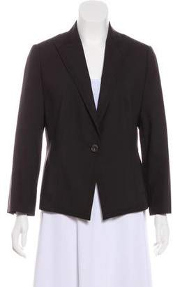 Akris Punto Pin Stripe Printed Notched-Lapel Blazer