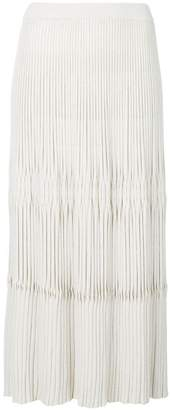 Christian Wijnants engineered pleat long knit skirt