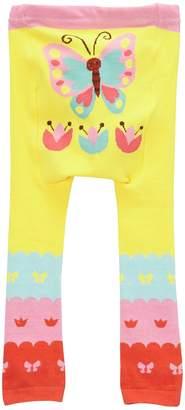 Doodle Pants Yellow Butterfly Leggings (Baby Girls)