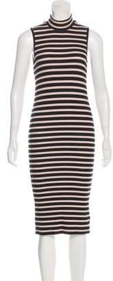 ATM Anthony Thomas Melillo Striped Sleeveless Midi Dress