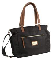 Zip-Top Nylon Tote Bag w/ Pullout Pouches