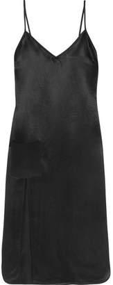 Versace Satin Midi Dress - Black