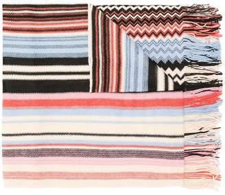 M Missoni geometric pattern scarf
