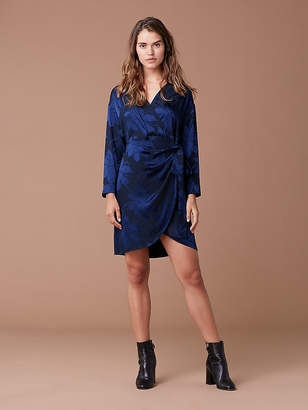 Diane von Furstenberg 3/4 Sleeve Mini Wrap Dress