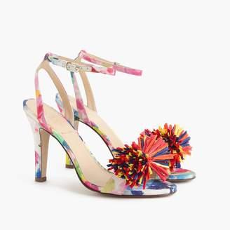 J.Crew Strappy heels (105mm) with raffia bow