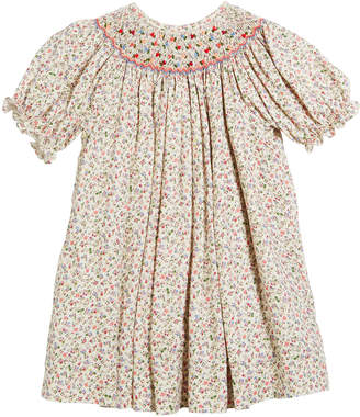Luli & Me Floral Button-Down Bishop Dress, Size 6-24 Months