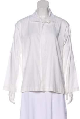 eskandar Long Sleeve Button-Up Top