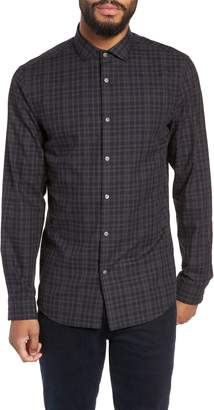 Calibrate Slim Fit Check Flannel Sport Shirt