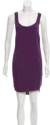 Alice + Olivia Silk-Blend Sleeveless Shift Dress