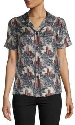 Burberry Printed Silk Shirt