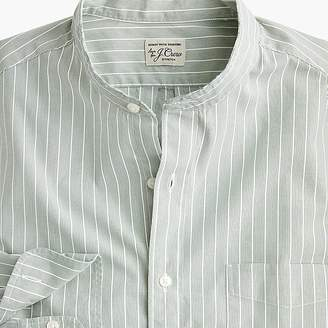 J.Crew Slim stretch Secret Wash band-collar shirt in fall stripe