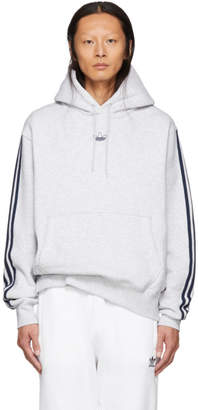adidas Grey Fleece Off Court Basketball Hoodie