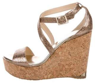 Jimmy Choo Portia Platform Wedge Sandals