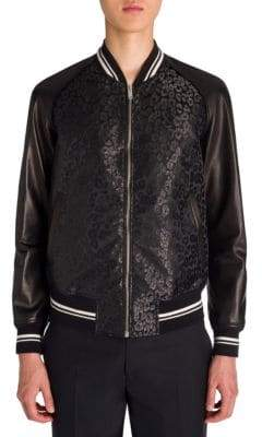 Alexander McQueen Raglan Sleeve Leather Jacket