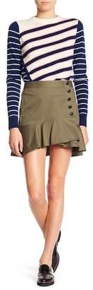 Veronica Beard Claremont Ruffle Button Skirt
