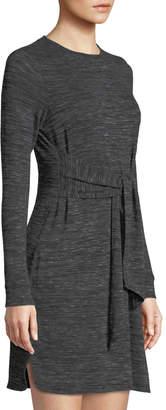 Max Studio Tie-Front Long-Sleeve Sheath Dress