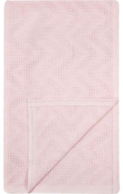 George Pink Cotbed Cellular Shawl