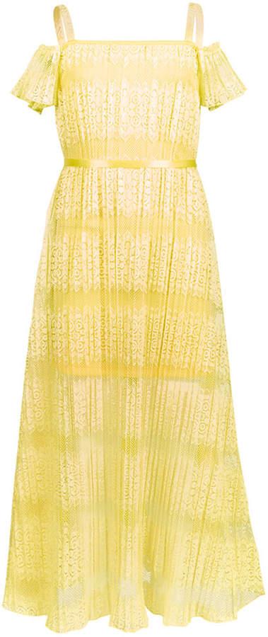 Us Angels Big Girls Lace Maxi Dress