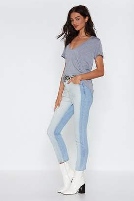 Nasty Gal Two Can Play At That Game Two-Tone Jeans