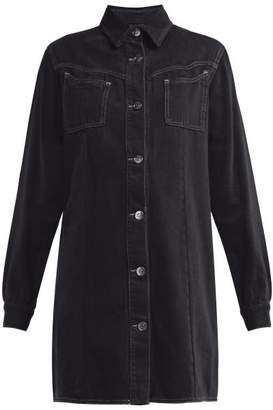 Ganni Kress Cotton Shirtdress - Womens - Black