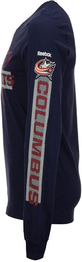 Reebok Men's Long-Sleeve Columbus Blue Jackets Lineup T-Shirt ...