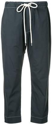 Bassike cropped drawstring trousers