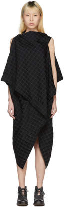 Issey Miyake Black Drape Square Dress