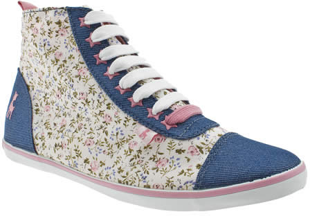 Babycham Ditsy Floral Hi Trainers