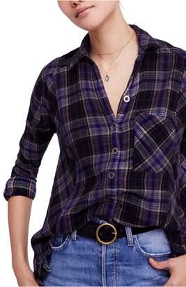 Free People Juniper Ridge Plaid Herringbone Shirt