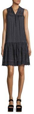 Rebecca Taylor Striped Silk & Lace Dress $495 thestylecure.com