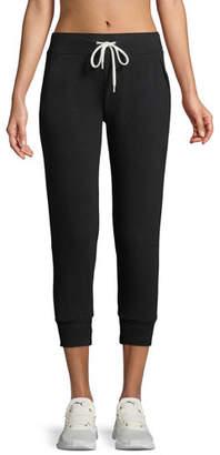 Monrow Cropped Drawstring Jogger Pants
