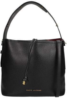 Marc Jacobs Hobo Bag In Black Leather