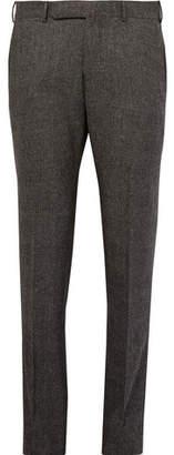 Ermenegildo Zegna Grey Slim-Fit Checked Stretch-Wool Trousers