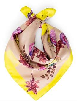 Milana Painted Flower Square Print Scarf