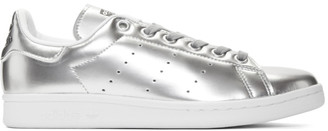 adidas Originals Silver Stan Smith Sneakers $100 thestylecure.com