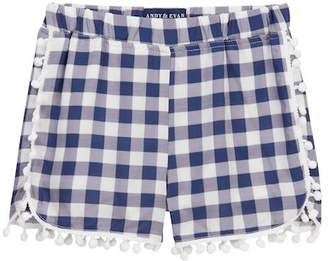 Andy & Evan Check Woven Shorts (Toddler & Little Girls)