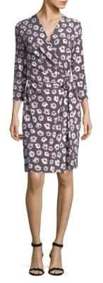 Jones New York Floral Printed Wrap Dress