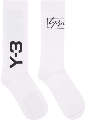 Y-3 Off-White Wool and Nylon Socks