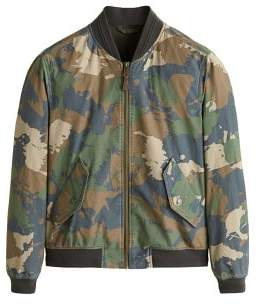 MANGO MAN Cotton camo-print bomber jacket