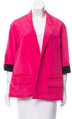 Alexander Wang Silk Cutout Blazer