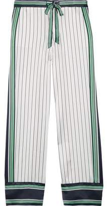 Kate Moss Equipment Striped Silk-Satin Pajama Pants