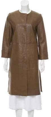 Max Mara Weekend Leather Knee-Length Coat