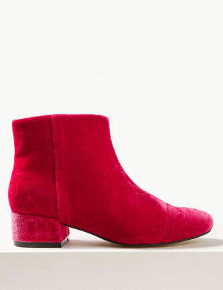 Marks and Spencer Velvet Ankle Boots