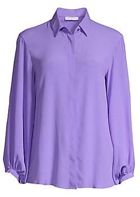 Beatrice. B Women's Silk-Blend Button-Front Blouse
