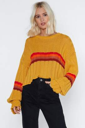 Nasty Gal Be Sweater Behaved Striped Sweater