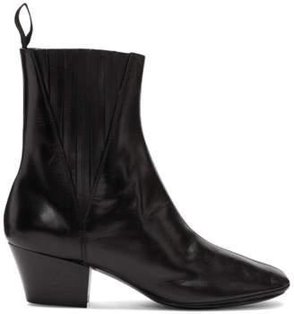 Lemaire Black Soft Chelsea Boots