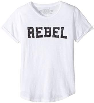 Original Retro Brand The Kids Rebel Short Sleeve Slub Cotton Tee Girl's T Shirt