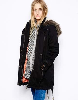 Brave Soul Cotton Twill Parka Coat